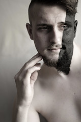 Taking Over (Lisa Josefsson) Tags: portrait black hands paint over taking