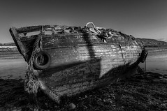 BOAT WRECK AT BUNCRANA PIER, BUNCRANA, INISHOWEN, CO. DONEGAL, IRELAND. (ZACERIN) Tags: boat wreck buncrana pier boat at co wreck ireland lough wrecked donegal zacerin inishowen swilly buncrana buncrana
