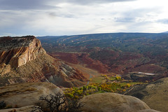 Fall colors (South for Sunshine) Tags: autumn fall leaves hiking canyon capitol change reef