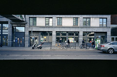 The Yellow Bike (Daire Quinlan) Tags: street dublin color colour film 35mm nikon fuji 28mm compact 400asa asa400 c41 400h af600 litetouch compact35mm