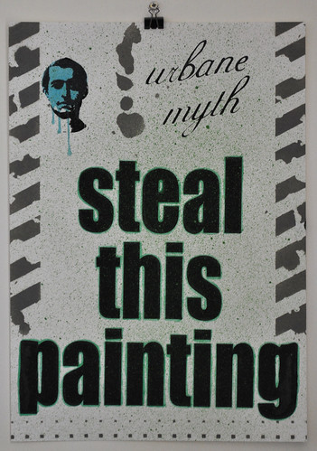 Steal this painting (green)