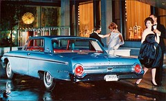 1962 Ford Galaxie 500 ; Enduring elegance with power to please (1950sUnlimited) Tags: travel cars ford advertising design style vehicles transportation postcards 1960s advertisements classiccars automobiles galaxie midcentury