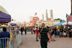 fairway before dark (EllenJo) Tags: carnival arizona fairgrounds nikon fair cottonwood nikonfm10 fujifilm may3 nikonslr verdevalleyfair ellenjo ellenjoroberts springtimeinarizona fuji200speed may2013