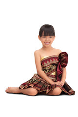 Thai little girl dressing with traditional style (Patrick Foto ;)) Tags: pink portrait woman white girl beautiful beauty smiling fashion lady female vintage garden asian thailand happy golden perception costume kid model glamour asia pretty sitting child looking dress shot little crafts traditional salute daughter earring culture makeup lifestyle style clothes national thai elegant greeting isolated ethnicity elegance embroider prostration
