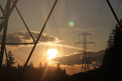 (Julia TortoiseHugger) Tags: sunset orange washington wa pylons wallacefalls wallacefallsstatepark goldbarwa