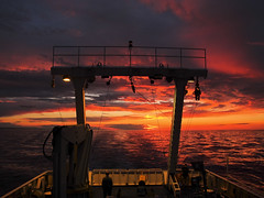Fade out (Giuseppe Suaria) Tags: cruise sunset sea tramonto mare ship no vessel campagna research nave ricerca urania oceanographic oceanografica