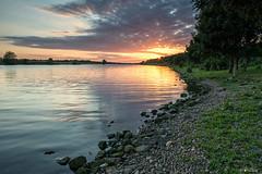 sunset over the Maas (Frednik) Tags: netherlands maas holland nikon maasduinen limburg sunset sonnenuntergang zonsondergang frednik 1835mm