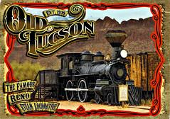Postkarte aus Tucson, Arizona (USA) (LOMO56) Tags: tucson tucsonarizona dampflokomotive historischelokomotive 440american lokomotiveoldtucson postkarten historischepostkarten