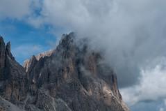 The Kiss (petrakiss) Tags: mountain mountainside sky cloud rock dolomites italy hiking nikond5000 nikon d5000