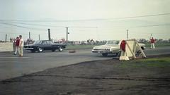 '62 Plymouth 413ci vs '62 Chevrolet  409ci - 1963 (bdrameyphotography) Tags: vintageautoracing dragracing autoracing fremontdragstrip film kodakektacolor120mediumformat epson850scanner 1962chevrolet409 1962plymouth413