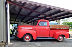 A Peachy Truck HTT (The Old Texan) Tags: old red truck
