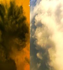 Facing the Demon (rhonda_lansky) Tags: fantasy surreal inbetween lansky rhondalansky sky clouds inverted unseen shapes cloudshapes faces facial sunset texture cloud abstract outdoorart expressive visual