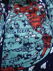 World Map Textile DressDetail Issey Miyake Japan (eriagn) Tags: japan japanese designer isseymiyake pleatsplease dress textile pleats folkart worldmap french americas newzealand playful images whale bear penguin antarctica wedding clous sheep boat tropical orangs teal midnightblue limitededition ourwedding waves ocean pacificocean ngairehart ngairelawson eriagn travel wanderer explore adventure discover wanderlust exploreunexplored