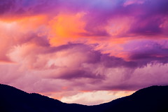 When God Paints (stevenbulman44) Tags: canon 70200f28l filter gitzo tripod shuswap cloud color mountain hills silhouette layer holiday landscape