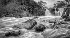Turpin Falls (djryan78) Tags: neutraldensity landscape cliffs australia langley canon1740l outdoor canon1740 hoyand64 smooth 6d bw turpinfalls river afternoon kyneton cliff flow rock victoria blackandwhite water blackwhite longexposure campasperiver neutraldensityfilter waterfall nd64 spring hoya rocks 1740 monochrome dslr canon canon6d 1740l