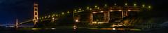 northern anchor (pbo31) Tags: california nikon d810 bayarea august 2016 summer boury pbo31 color northerncalifornia sanfrancisco panoramic large stitched panorama goldengatenationalrecreationarea marincounty northbay goldengatebridge 101 bridge night dark black fortbaker reflection orange