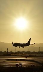 Aterrizaje al atardecer (@syllicon) Tags: avion aterrizaje nikond5500 atardecer contraluz silueta aeropuerto bcn elprat