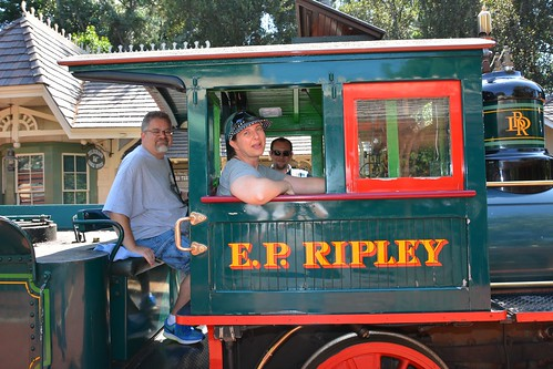 """Tracey and Scott in the E.P. Ripley at Disneyland • <a style=""""font-size:0.8em;"""" href=""""http://www.flickr.com/photos/28558260@N04/29123372002/"""" target=""""_blank"""">View on Flickr</a>"""