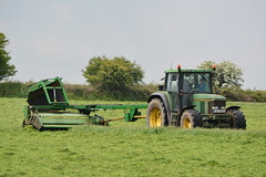 John Deere 6600 Tractor with a John Deere 1365 Mower Conditioner (Shane Casey CK25) Tags: john deere 6600 tractor 1365 mower conditioner whitechurch jd green silage silage16 silage2016 grass grass16 grass2016 winter feed fodder county cork ireland irish farm farmer farming agri agriculture contractor field ground soil earth cows cattle work working horse power horsepower hp pull pulling cut cutting crop lifting machine machinery nikon d7100