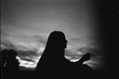 Nahla, excuse the dust.. (Eric Lfgen) Tags: rollei 35s adox silvermax100 analog analogue film 35mm black white bw smoke evening silhouette