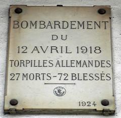 Bombardement du 12 avril 1918 plaque - 12 rue de Rivoli, Paris 4th arr (Monceau) Tags: bombardment plaque 1918 12ruederivoli paris 4tharr bombing germany openplaques:id=41866