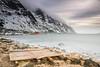 "cast away (Federico ""Jäger"" Serafini) Tags: norvegia lofoten ghiaccio rocce rocks norway aurora boreale northern light clouds nuvole sea spiaggia long exposure"