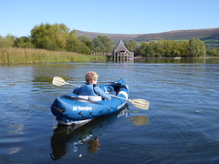 Canoing the Crannog (WYEEXPLORER) Tags: breconbeacons llangorselake lake glaciallake canoe canoeing crannog mountains water sailing floating relaxing