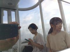 reflection in reflection (troutfactory) Tags: reflection friends ferriswheel osakawheel 大阪府 osaka 関西 kansai 日本 japan ipod5 digital