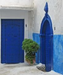Number 9 and Number 13 (Ellsasha) Tags: rabat morocco doors blues northafrica