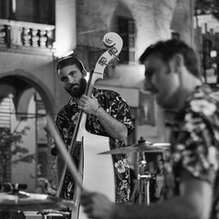 Live at Domodossola (Italy) (luciano_campani) Tags: music live concert band contrabass doublebass contrabbasso domodossola monochrome italia italy kontrabas concerto concierto konzert bn bw