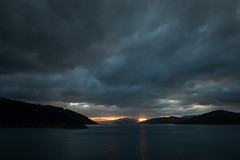 Sunset on Marlborough Sound (Explored) (andiwolfe) Tags: marlboroughsound newzealand sunset