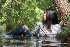 Wetlook in Tight Jeans #265 (Wetlook with WetFoto.com) Tags: wetlook wetfoto wetgirl brunette wethair getwet swimming fullyclothed tightjeans blouse tights lake