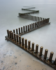 Lines in the Sea (Rob'81) Tags: sea groyne britain