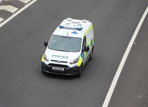 M9 SF15 KAX FORD TRANSIT CONNECT POLICE SCOTLAND DOGS