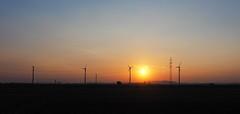 Skyline (HermannFalkner/sokol) Tags: guessed vienna sunset donaustadt skyline skylineofvienna wien windrad windturbine windwheel cloudsstormssunsetssunrises
