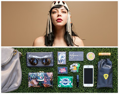 Julia Diptych (J Trav) Tags: persona thecoathangers perfume portrait diptych whatsinyourbag theitemswecarry showusthecontentsofyourbag thingsorganizedneatly knoll everydayessentials items bag lasvegas woman
