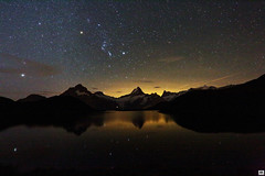 Orion (yves_matiegka) Tags: alps bachalpsee stars night nightsky switzerland lake reflection snow mountains grindelwald