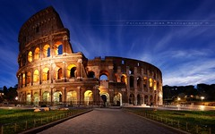 The Coliseum (Fernando 75) Tags: nikond800 1635 night light italy rome italia roma colise coliseum bluehour nightscape architecture landscape tourism monument history gladiators games roman empire amphitheatrum marbre circus game