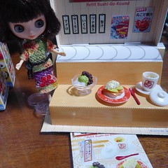 Box 1 of Petit Sushi Go Round Re-ment set (lyndell23) Tags: rement sushi miniature miniaturefood playfood