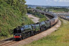 20120728  71000 Duke of Gloucester + 60163 Tornado (paulbrankin775) Tags: tamar devonian 60163 71000 doubleheader double tornado duke gloucester dawlish warren steam locomotive train