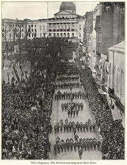 101st Engineers, 26th Division Marching Down Park Street (State Library of Massachusetts) Tags: 101stengineers parkstreet boston massachusetts massachusettsstatehouse wwi 26thyankeedivision 26thdivision worldwari parade