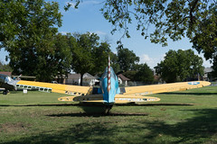 DSC00080 (HeyItzDucky) Tags: airplane museum retired out comission american america fort worth texas jet jets crafts helicoptors helicoptor engine black white old vintage classic aeroplanes steel iron aluminium aluminum rudder history wide panoramic panorama gilded gild propellor