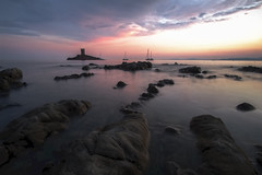 Le Dramont (fredMin) Tags: var long exposure travel mediterranean sunset france island dor fujifilm fuji samyang 12mm rocks