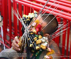 Phuket Vegetarian Festival (Andaman4fun) Tags: metal nose eye men man face phuket vegetarian festival people tattoo piercing cut scarification blood thailand samui krabi pattaya bangkok lanta chang chinese famous               color red gold yellow island annual cutting