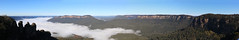 Blue Mountains - Jamison Valley (lukedrich_photography) Tags: australia oz commonwealth        newsouthwales nsw overlook viewpoint skyline valley plateau threesisters blue mountains region jamisonvalley scenic nature katoomba rock pano panorama forest cloud fog canon t6i canont6i history culture