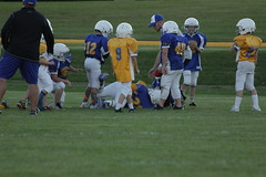 1337 (bubbaonthenet) Tags: 09292016 game stma community 4th grade youth football team 2 5 education tackle 4 blue vs 3 gold