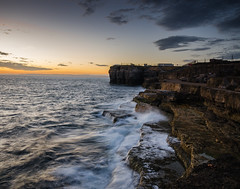 crashing (Glen Parry Photography) Tags: glenparryphotography d7000 nikon sigma waves water sea coast coastline rocks sunset longexposure dorset seafront seascape landscape