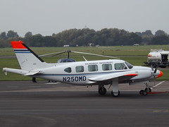 N250MD Piper Navajo 31 Oilsearch Aviation Inc Owner Trustee (Aircaft @ Gloucestershire Airport By James) Tags: gloucestershire airport n250md piper navajo 31 oilsearch aviation inc owner trustee egbj james lloyds