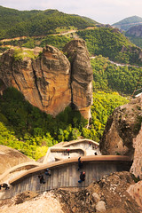Meteora (Soupmeister) Tags: greece thessaly meteora    stairs wideangle geology rocks