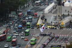 Mini-Seoul (Robert Borden) Tags: miniature asia southkorea korea seoul landscape traffic flag canon travel
